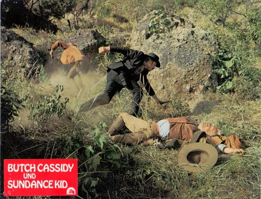 Butch Cassidy & Sundance Kid - 4 original Aushangfotos/Lobbycards