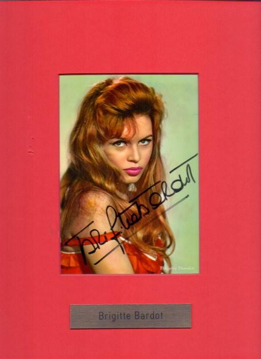 Brigitte Bardot Autogramm