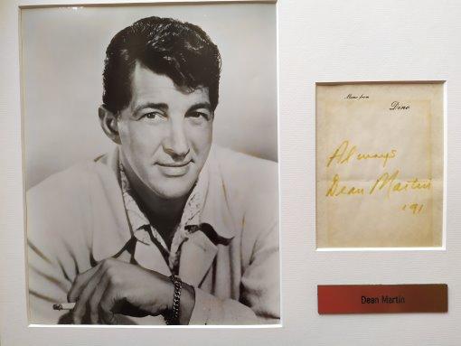 Dean Martin - Installation mit Autogramm
