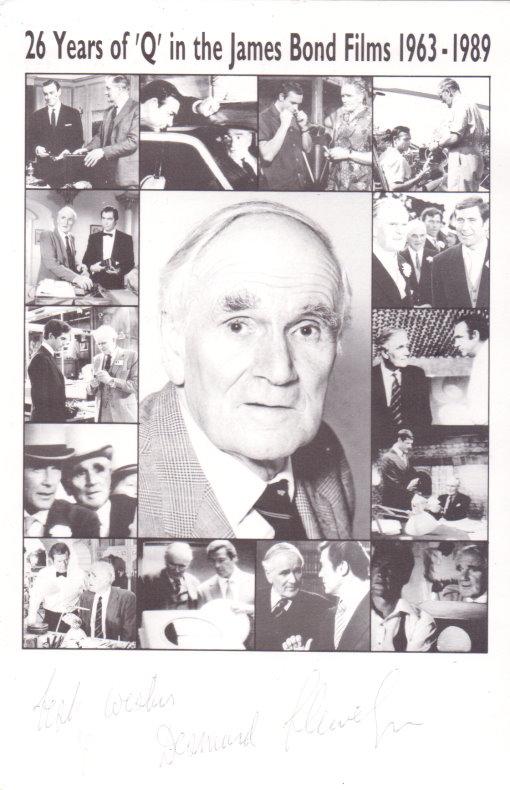 Desmond Llewelyn Autogramm - Q aus den Bondfilmen