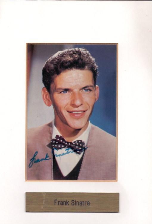 Frank Sinatra frühes Autogramm