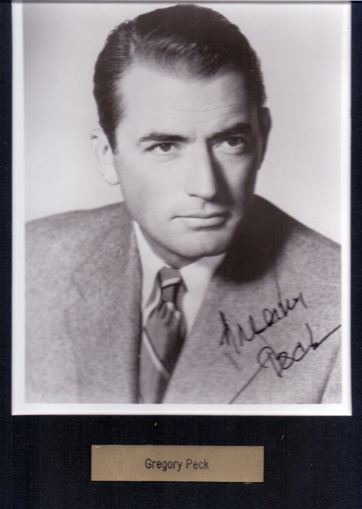 Gregory Peck Autogramm