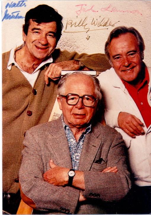 Jack Lemmon, Billy Wilder & Walter Matthau Autogramm
