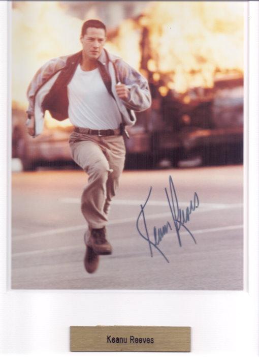 Keanu Reeves Autogramm aus SPEED