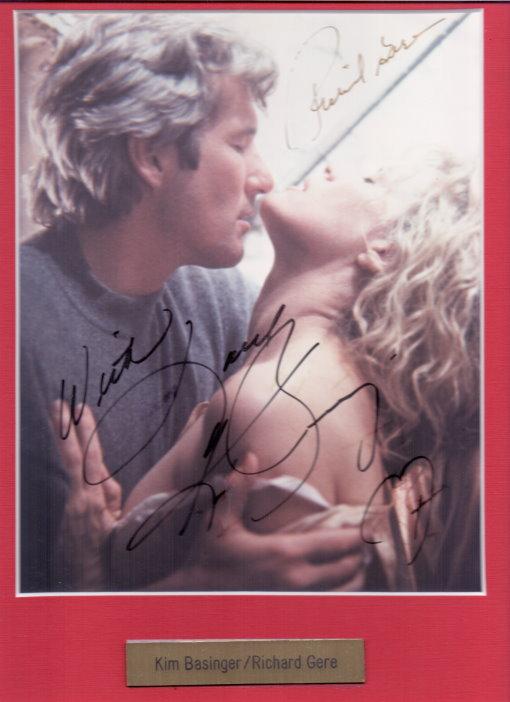 Kim Basinger & Richard Gere Autogramm aus EISKALTE LEIDENSCHAFT