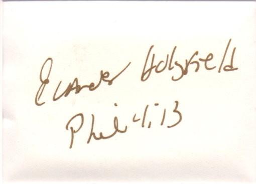 Evander Holyfield Autogramm