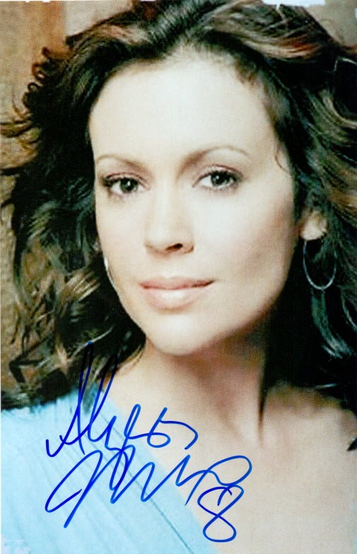 Alyssa Milano Autogramm aus CHARMED
