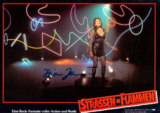 Diane Lane Autogramm aus STRASSEN IN FLAMMEN