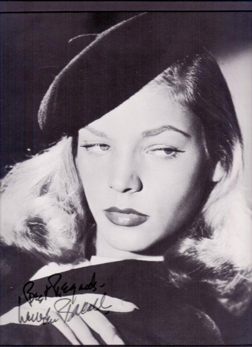 Lauren Bacall Autogramm