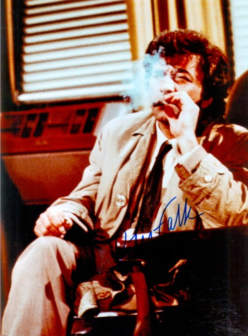 Peter Falk Autogramm als INSP. COLUMBO