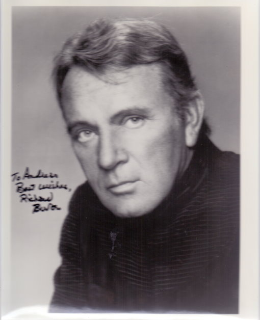 Richard Burton Autogramm