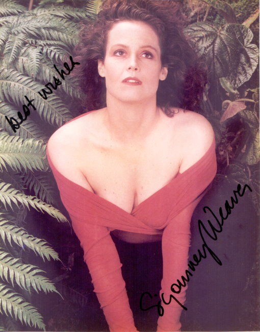 Sigourney Weaver Autogramm