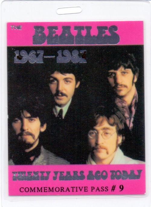 The Beatles Commemorative Pass Nr. 9