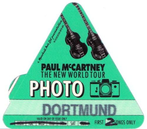Paul McCartney - original Tourpass von 1993