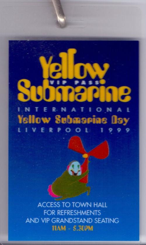 VIP Pass für den YELLOW SUBMARINE DAY
