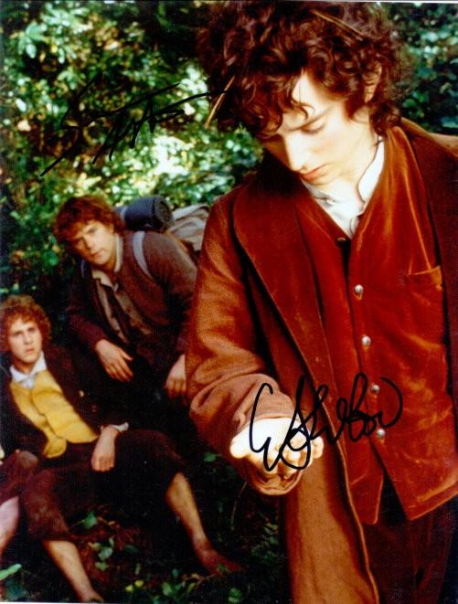 Eliah Wood Autogramm als Frodo Beutlin