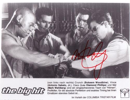 Mark Wahlberg Autogramm aus The Big Hit