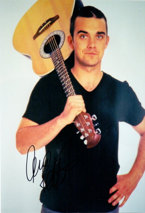 Robbie Williams Autogramm