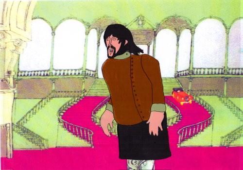 George Harrison - Zeichentrickfolie / Cel aus YELLOW SUBMARINE