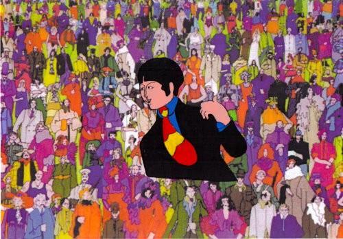 Paul McCartney - Zeichentrickfolie / Cel aus YELLOW SUBMARINE