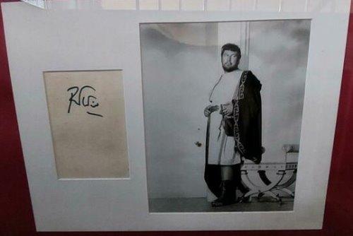 Peter Ustinov + Sir Laurence Olivier Autogramm