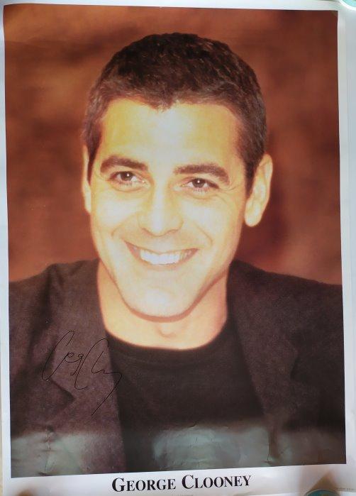 George Clooney Autogramm