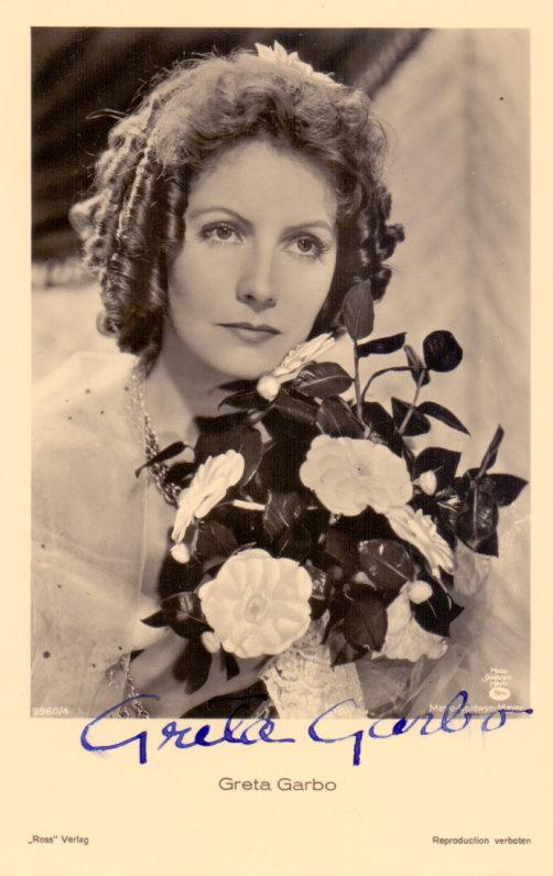 Greta Garbo Autogramm