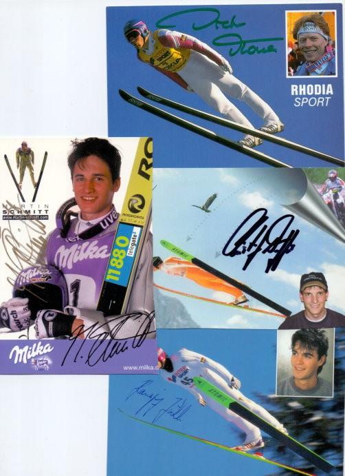4 Autogramme deutscher Skispringer
